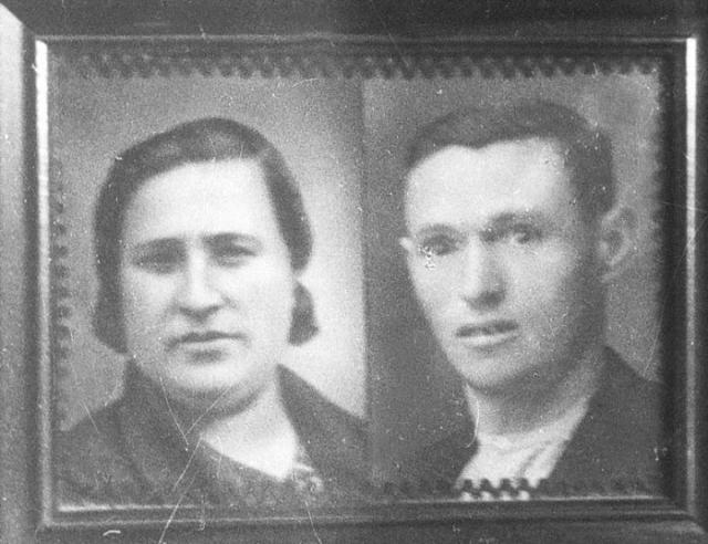 Francisco Castro y su mujer, Serafina Compañet, en una imagen tomada meses antes del fusilamiento. Francisco tenía 37 años cuando fue ejecutado. Era herrero.